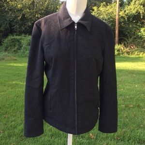 Wool Cashmere Blend Zip Up Jacket by J. Crew Small